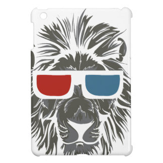 vintage lion design with color gases case for the iPad mini