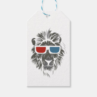 vintage lion design with color gases gift tags