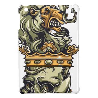 vintage lion on dead skull iPad mini cases