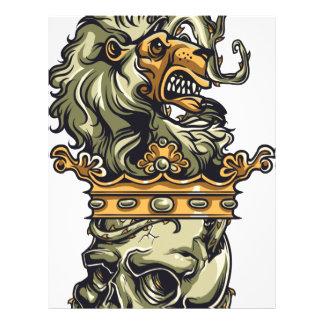 vintage lion on dead skull letterhead