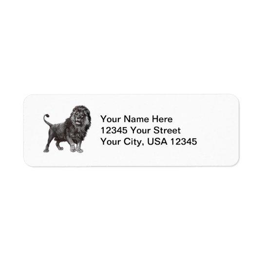 Vintage Lion Return Address Labels