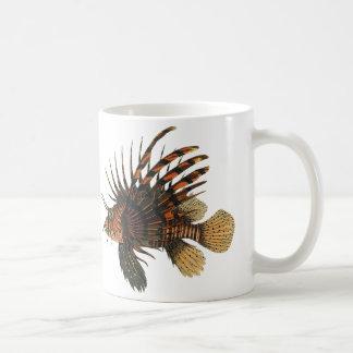 Vintage Lionfish Fish, Marine Ocean Life Animal Coffee Mug