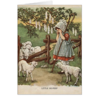 Vintage Little Bo Peep, Card