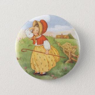 Vintage Little Bo Peep Mother Goose Nursery Rhyme 2 Inch Round Button