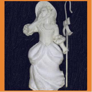 Vintage Little Bo Peep Photo Sculpture Magnet