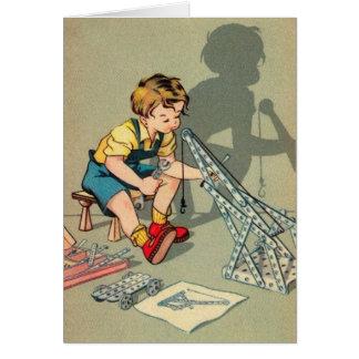 Vintage Little Boy Greeting Card