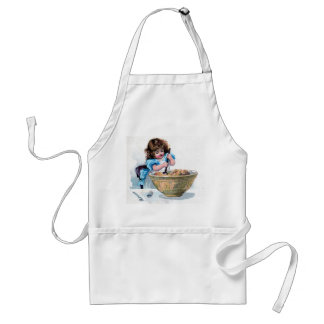 Vintage Little Girl Baking Apron
