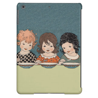 Vintage Little Girls Eating Soup Three Sisters Cover For iPad Air