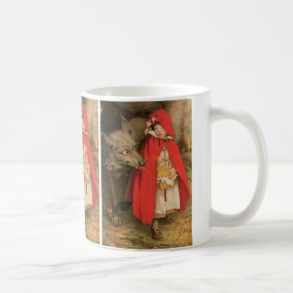 Vintage Little Red Riding Hood and Big Bad Wolf Coffee Mug