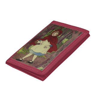 Vintage Little Red Riding hood book art Tri-fold Wallet