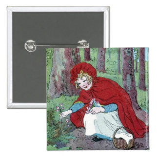 Vintage Little Red Riding Hood Button