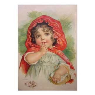 Vintage Little Red Riding Hood Poster