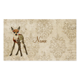 Vintage Little Rose Fawn Business Card