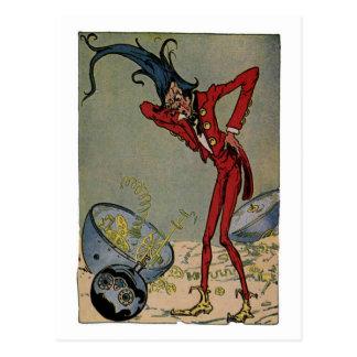 Vintage Little Wizard of Oz Illustration Postcard