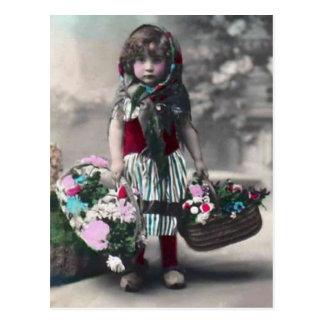vintage littlegirl postcard