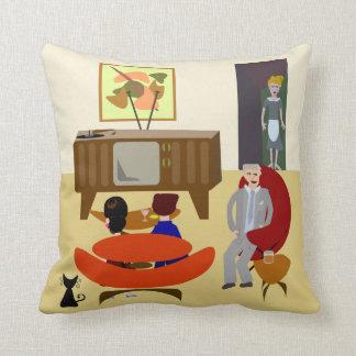 Vintage Living Illustration Throw Pillow
