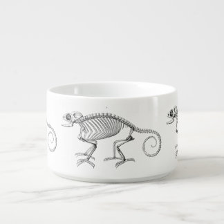 Vintage lizard skeleton chili bowl