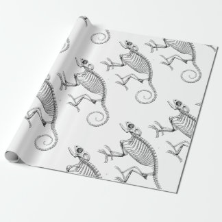 Vintage lizard skeleton gift paper