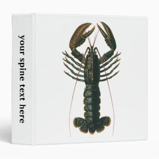 Vintage Lobster, Marine Ocean Life Crustacean Vinyl Binders