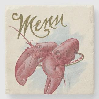 Vintage Lobster Menu Stone Coaster