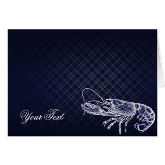Vintage Lobster Navy Blue Elegant Chic Thank You Card