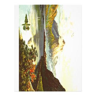 Vintage Loch Maree Painting Customized Letterhead