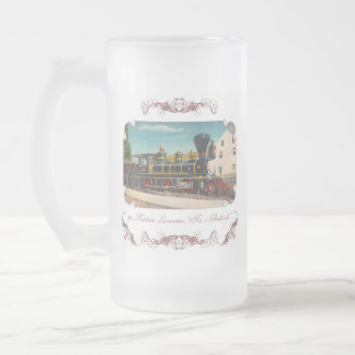 Vintage Locomotive Frosted Mug