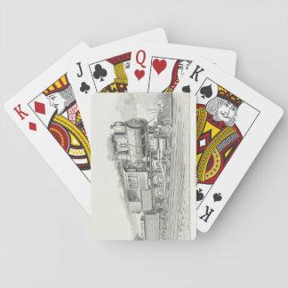 Vintage Locomotive Playing Cards