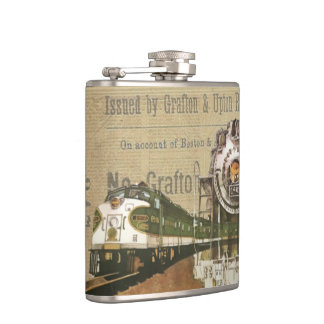 Vintage Locomotive Train Hip Flask