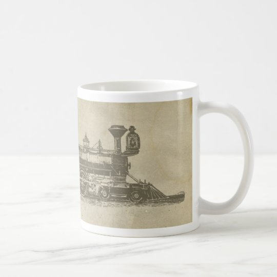 Vintage Locomotive Vintage Railroad Train Coffee Mug