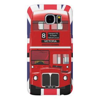 Vintage London Bus and Union Jack Samsung Galaxy S6 Cases