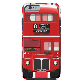 Vintage London Bus and Union Jack Tough iPhone 6 Case