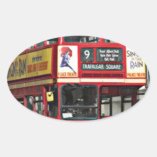 Vintage London Bus Oval Sticker