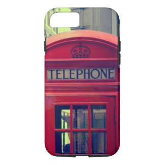 Vintage London City Red Public Telephone Booth iPhone 7 Case