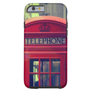 Vintage London City Red Public Telephone Booth Tough iPhone 6 Case