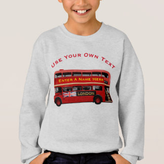 Vintage London Double Decker Bus Sweatshirt