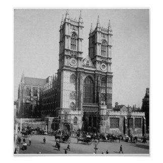 Vintage London England, Westminster Abbey 1903 Poster