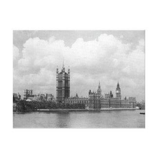 Vintage London, Houses of Parliament 1904 Canvas Print