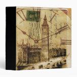 vintage london landmark landscape big ben binders