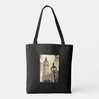 Vintage London Map/Big Ben Tote Bag