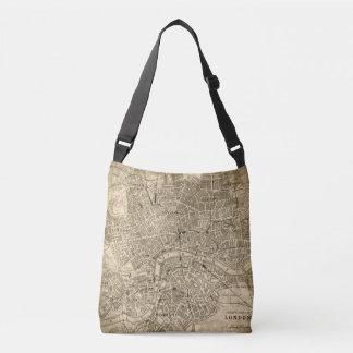 Vintage London Map Travel Messenger Tote Bag