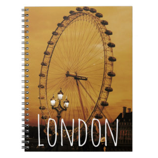 Vintage London Notebook with London Eye