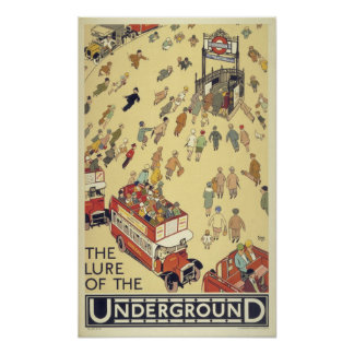 Vintage London The Lure of the Underground Poster