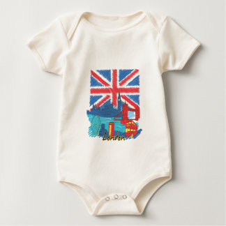 vintage lone flag and cities baby bodysuit