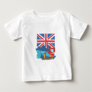 vintage lone flag and cities baby T-Shirt