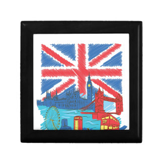 vintage lone flag and cities gift box