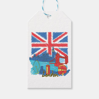 vintage lone flag and cities gift tags