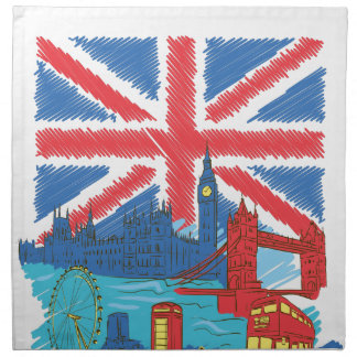 vintage lone flag and cities napkin