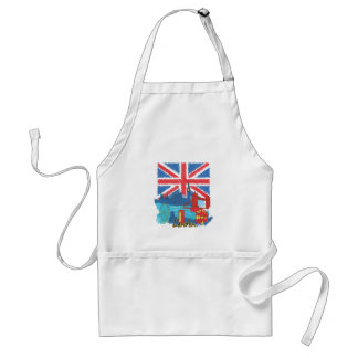 vintage lone flag and cities standard apron