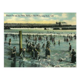 Vintage Long Beach California Postcard